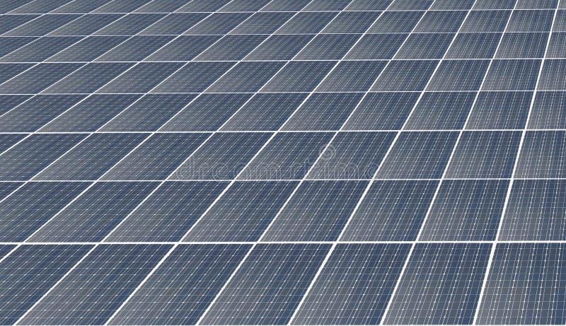 Painel solar de potência sem fim abstrato sobre fundo azul-céu, conceito de energia limpa alternativa fotos de stock royalty free