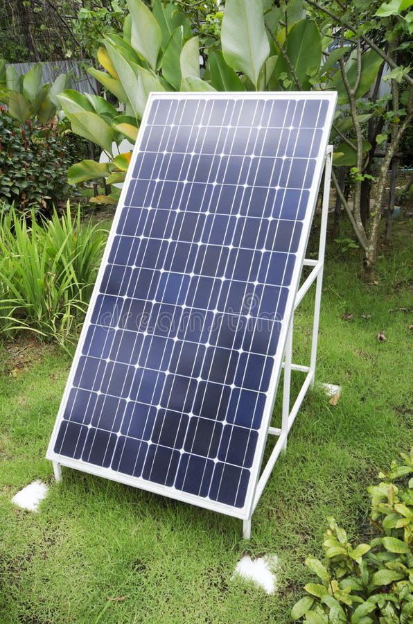 Painel solar do Sigle fotos de stock