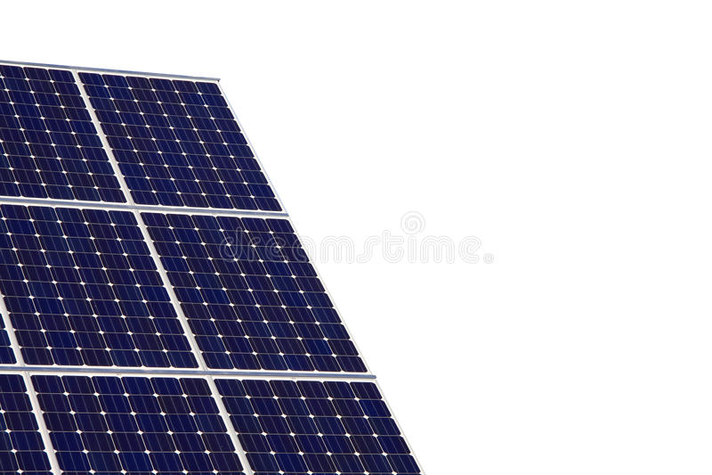 Painel solar isolado no fundo branco imagem de stock