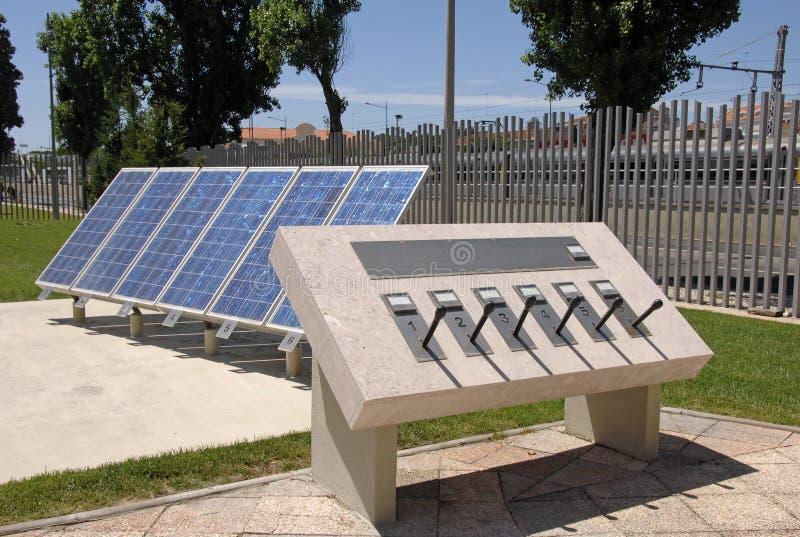 Painel solar para a energia alternativa fotografia de stock