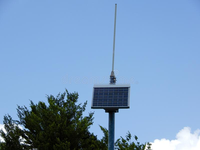 Painel solar pequeno foto de stock