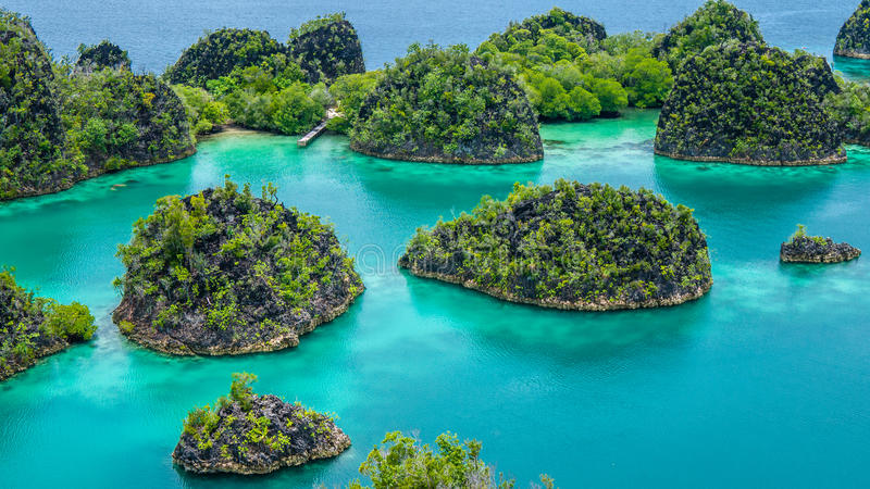 Painemo Island, Blue Lagoon, Raja Ampat, West Papua, Indonesia. Painemo Island, Blue Lagoon, Raja Ampat, West Papua Indonesia stock photos