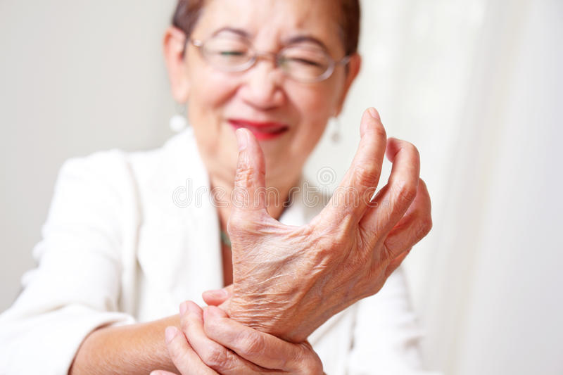Painful Hand royalty free stock photo