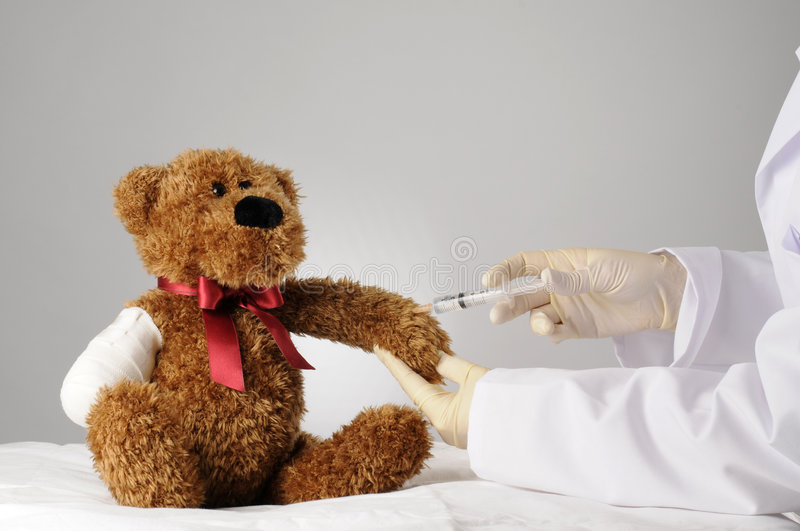 Painful injection stock photography