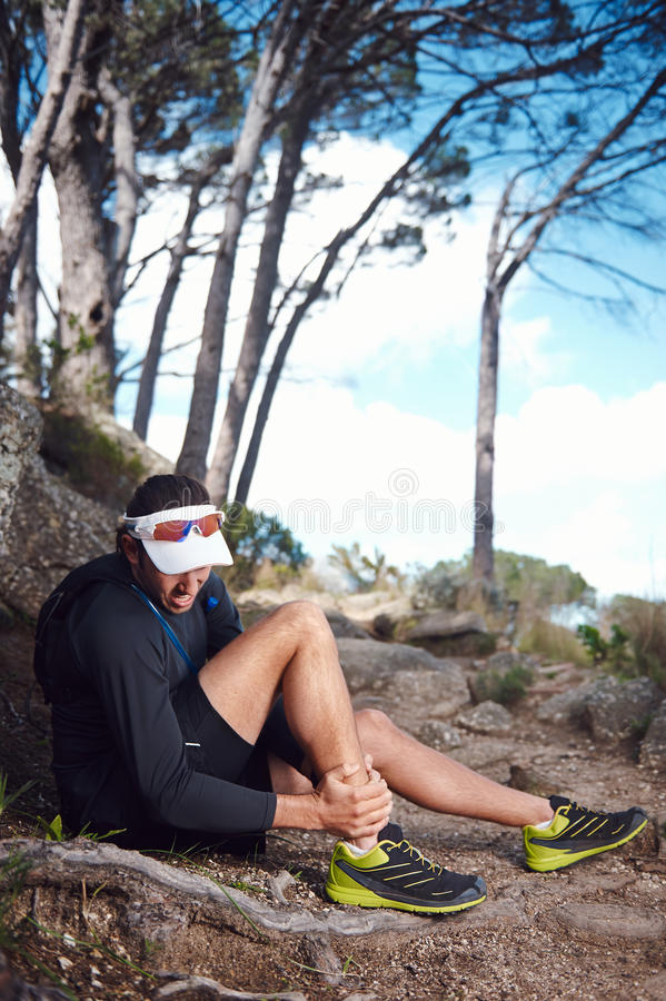 Painful running injury royalty free stock photos