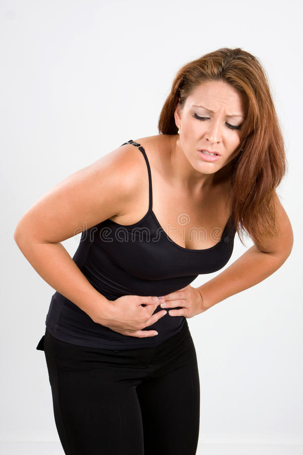 Painful Stomach Cramps Stock Image