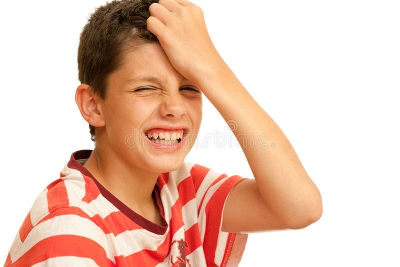 Painfull Kopfschmerzen lizenzfreies stockfoto