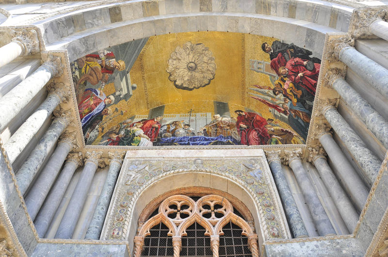 Download Paining At The Entrance Of San Marco, Venezia Stock Photo - Image: 26991622