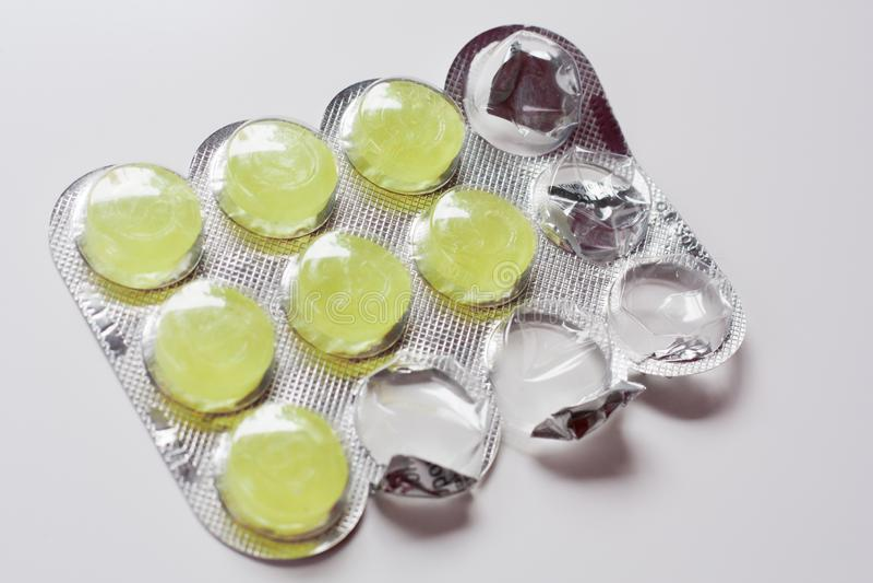 Painkiller flavored pills stock photos