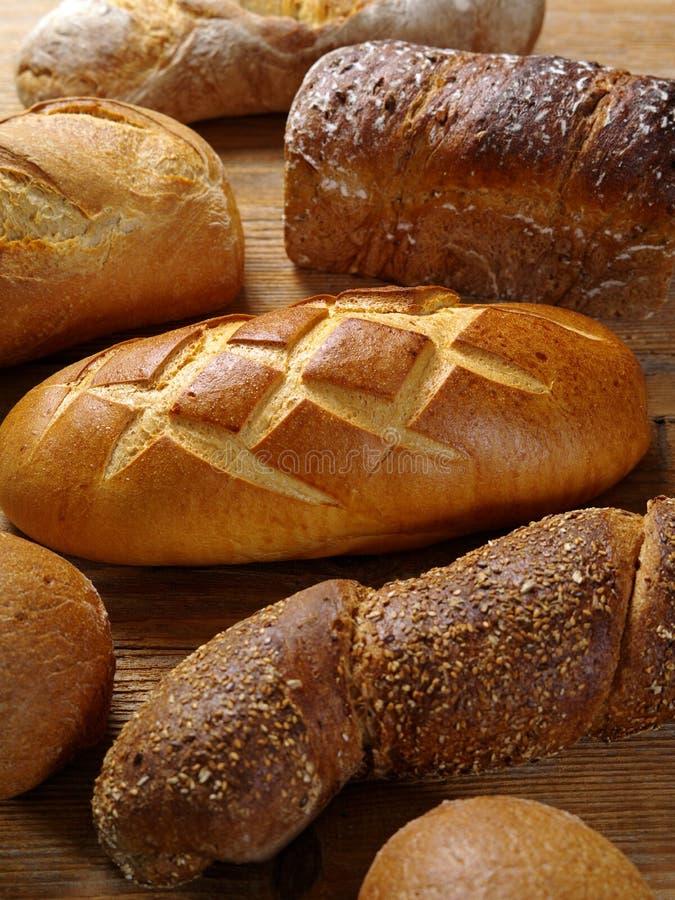Pains de pain cuit au four photographie stock