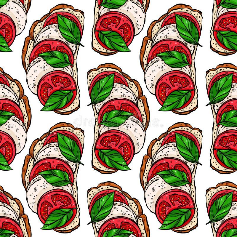 Pains grillés sans couture de petit déjeuner illustration stock