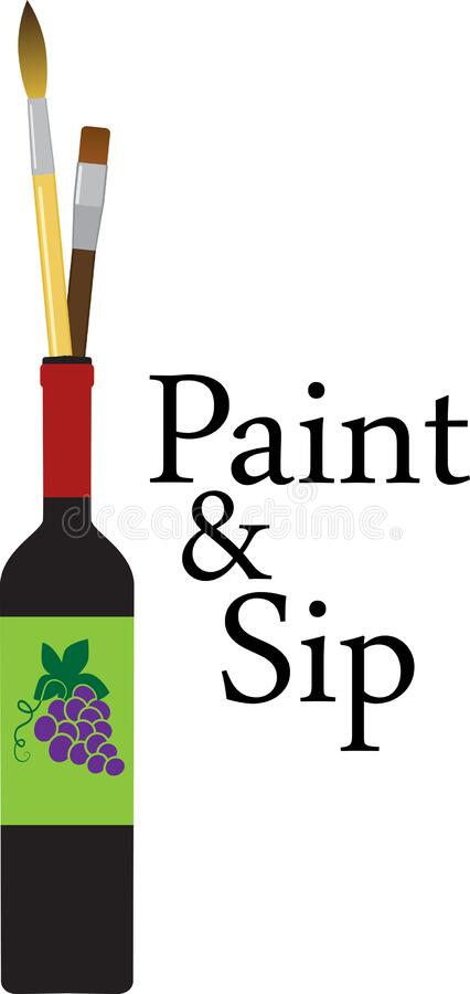 Free Paint And Sip Party Invite Royalty Free Stock Photos - 194175288