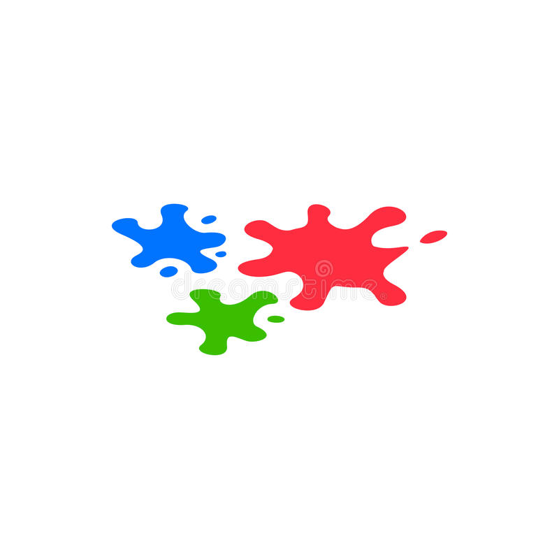 Paint blobs icon, isometric 3d style royalty free illustration