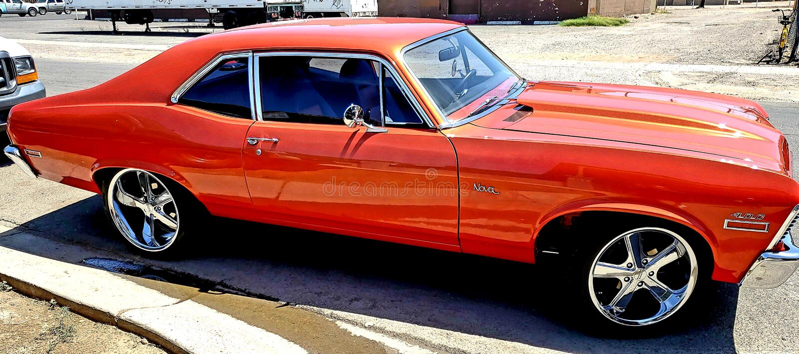 Innovation auto specialist paint and body repair royalty free stock images