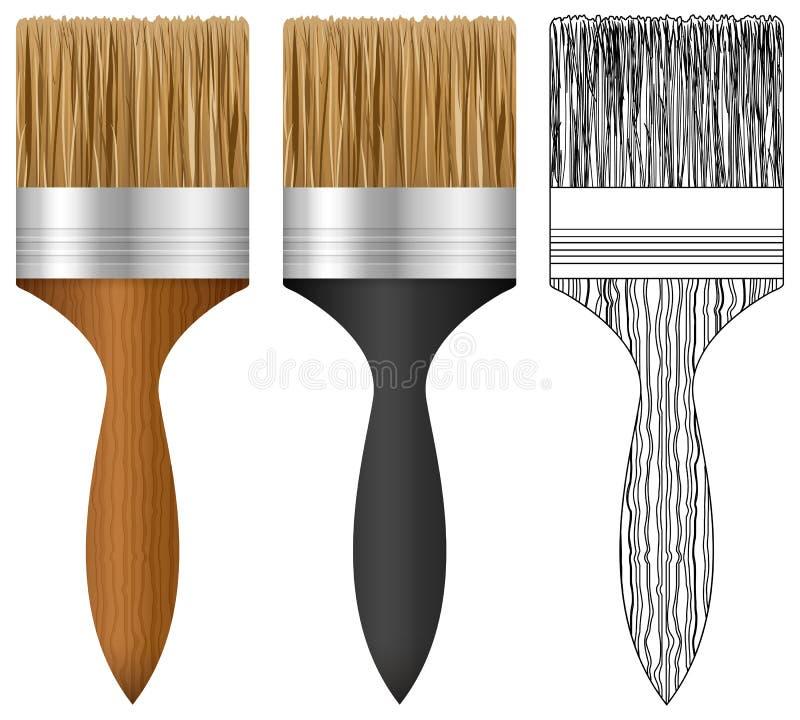 Paint borstar uppsättningen royaltyfri illustrationer