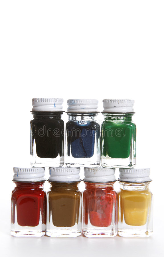 Download Paint Bottles stock photo. Image of decorate, create, palette - 1523650