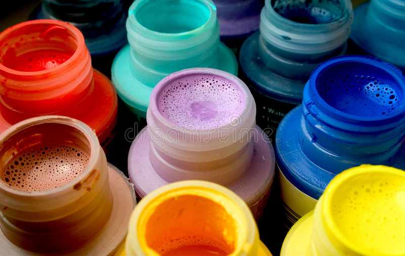 Paint Bottles stock photography