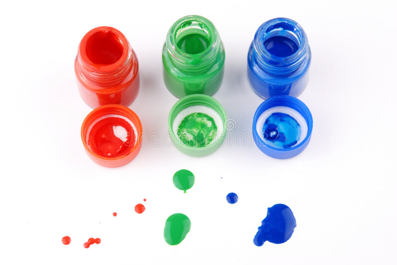 Paint bottles royalty free stock photography