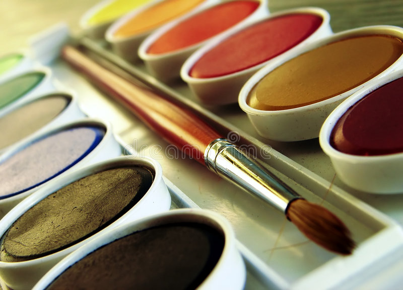 Paint Box royalty free stock images