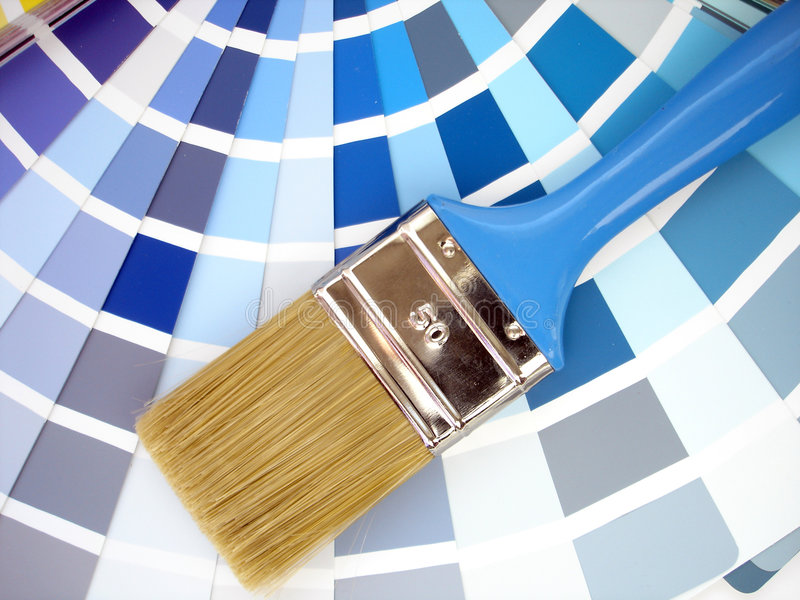 Download Paint brush stock image. Image of sample, yourself, interior - 2093111