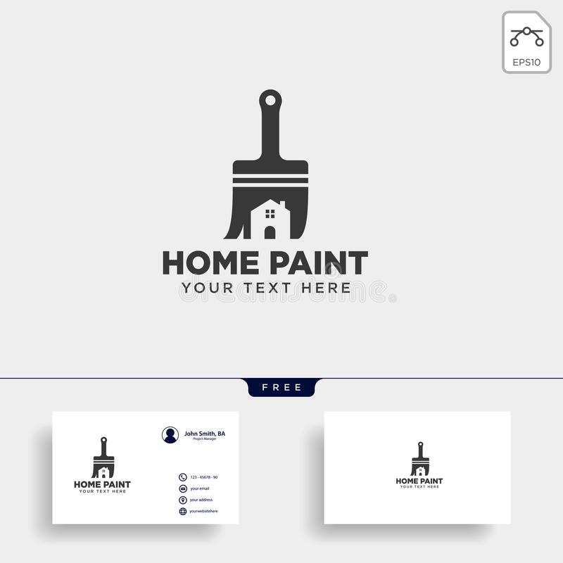 Paint brush colorful logo template vector icon element. Vector vector illustration