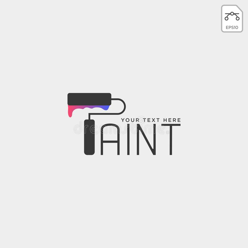 paint brush colorful logo template vector icon element vector illustration