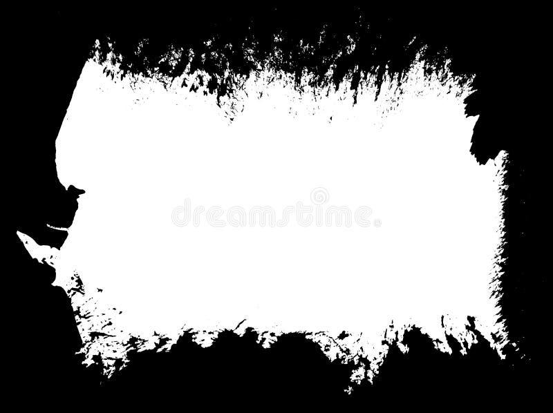 Paint brush grunge border frame royalty free illustration