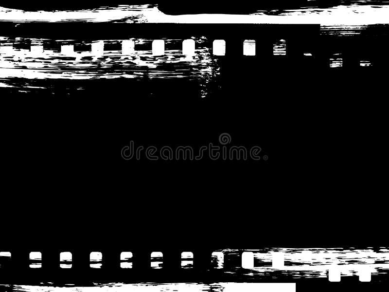 Paint brush grunge film strip frame stock illustration