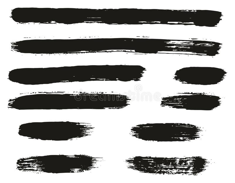Paint Brush Lines High Detail Abstract Vector Background Set 54. This image is a vector illustration and can be scaled to any size without loss of resolution royalty free illustration