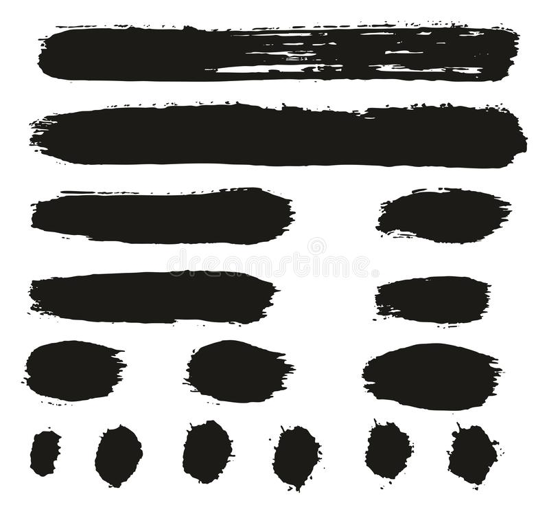 Paint Brush Lines High Detail Abstract Vector Background Set 81. This image is a vector illustration and can be scaled to any size without loss of resolution vector illustration