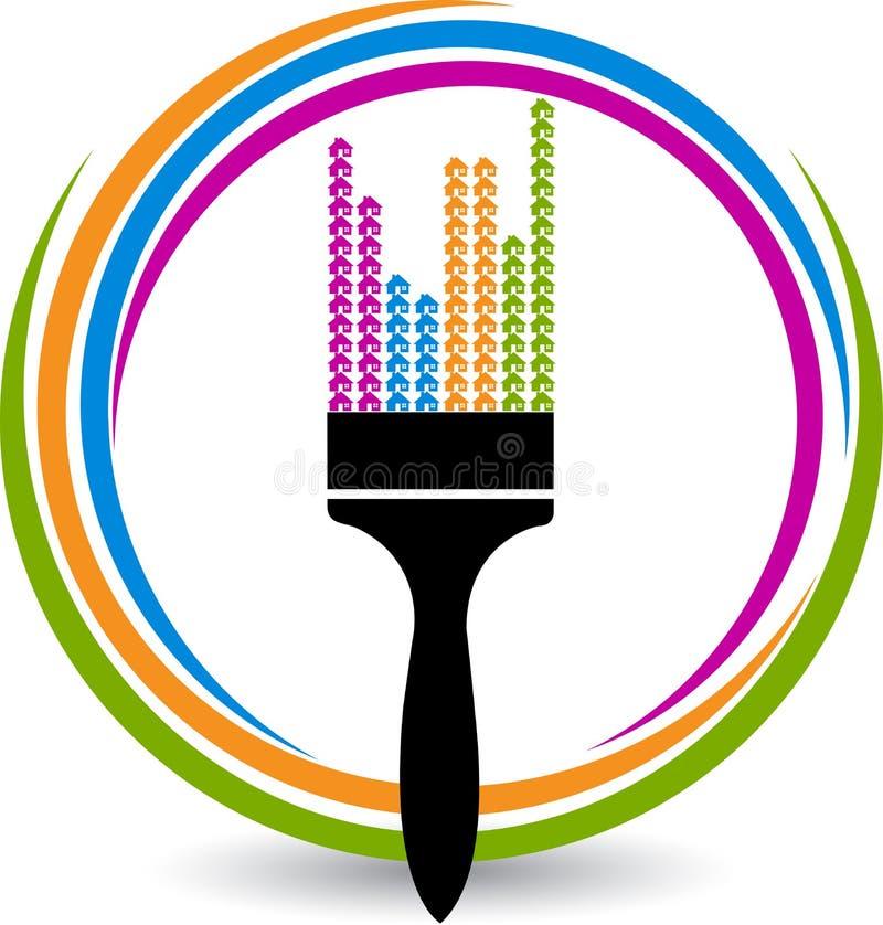 Paint brush logo royalty free illustration