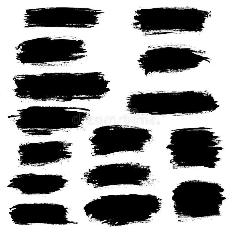 Paint brush, marker highlighter vector strokes vector illustration