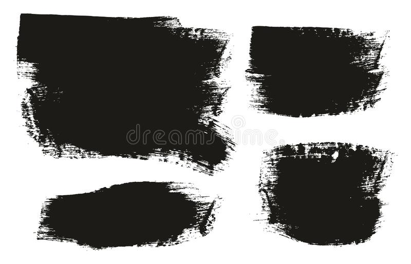 Paint Brush Medium Background Mix High Detail Abstract Vector Background Set 155. This image is a vector illustration and can be scaled to any size without loss royalty free illustration