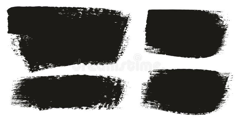 Paint Brush Medium Background Mix High Detail Abstract Vector Background Set 145. This image is a vector illustration and can be scaled to any size without loss royalty free illustration