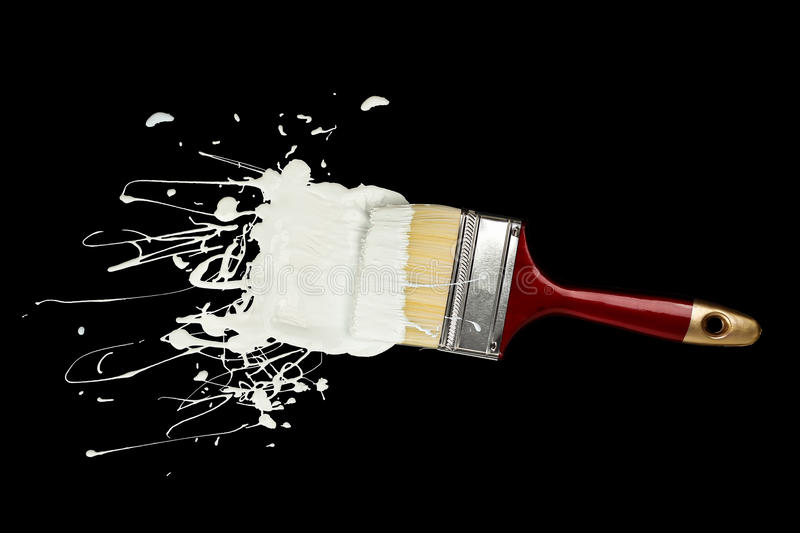 Paint brush and paint stock photography