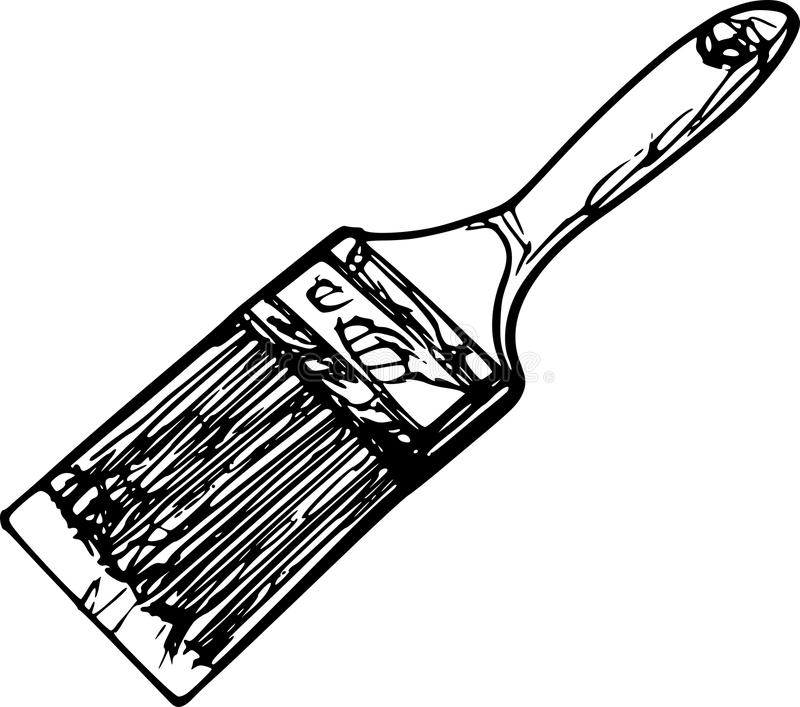 Paint Brush Sketch Stock Photography