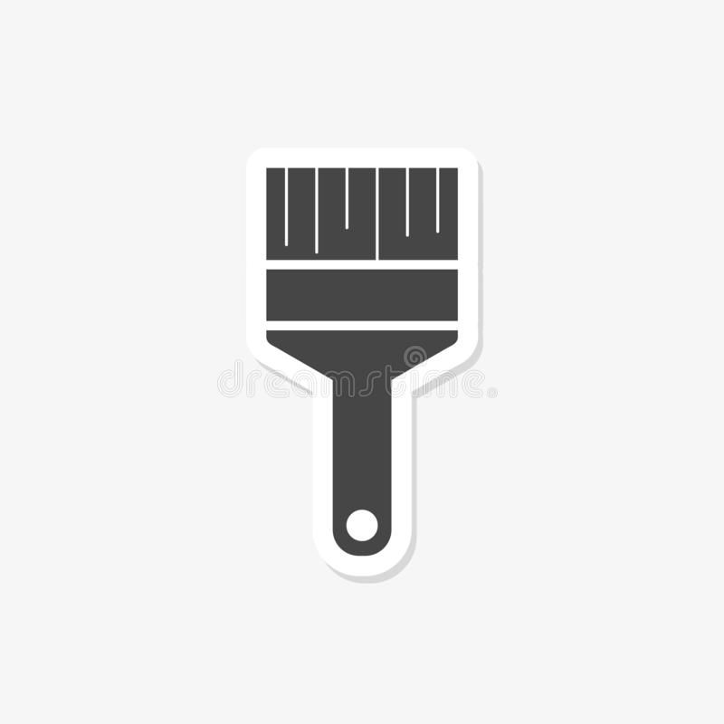 Paint brush sticker isolated on white background. Paint brush icon in trendy design style for web royalty free illustration