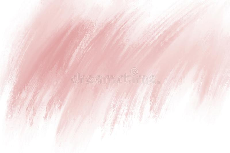 Paint brush stroke on white background with copy space. For design work royalty free illustration