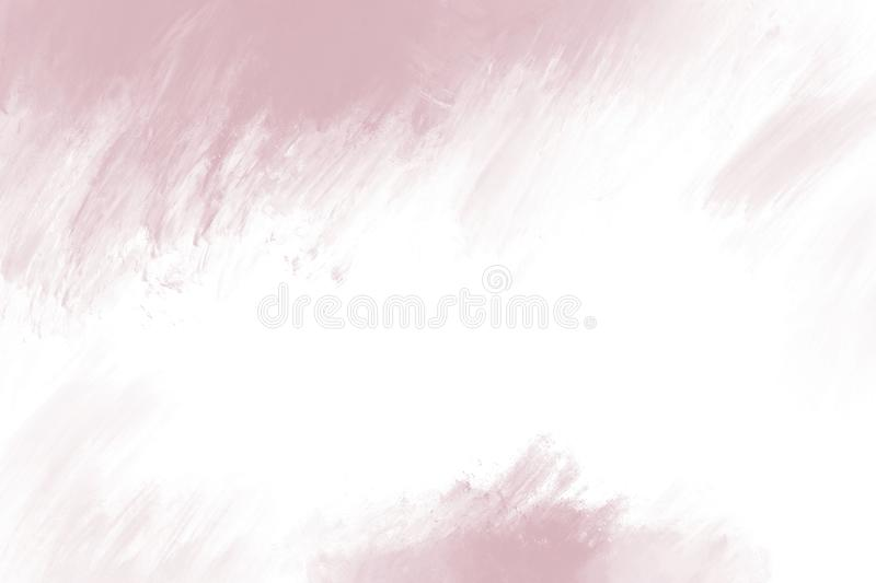 Paint brush stroke on white background with copy space. For design work stock illustration