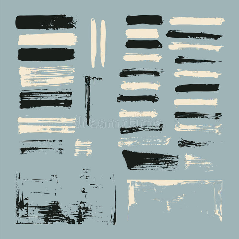 Paint brush strokes stock photography