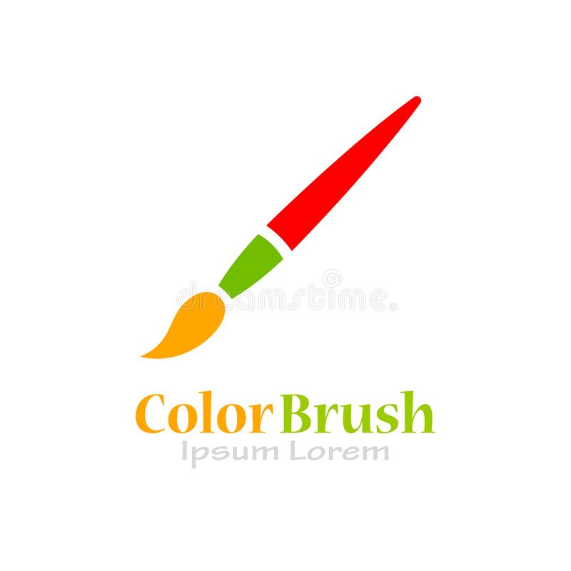 Paint brush vector logo vector illustration