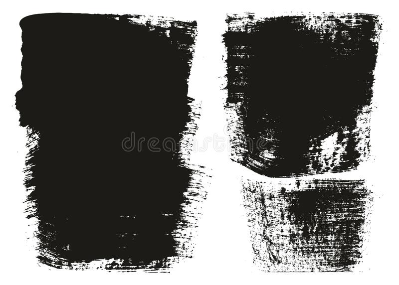 Paint Brush Wide Background High Detail Abstract Vector Background Set 121. This image is a vector illustration and can be scaled to any size without loss of stock illustration