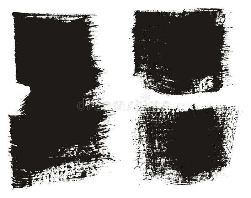 Paint Brush Wide Background High Detail Abstract Vector Background Set 113. This image is a vector illustration and can be scaled to any size without loss of royalty free illustration