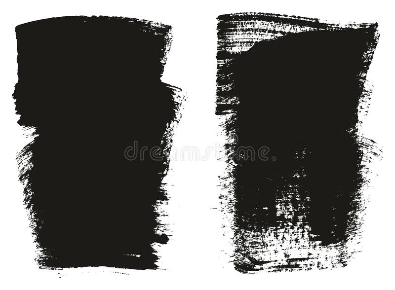 Paint Brush Wide Background High Detail Abstract Vector Background Set 99. This image is a vector illustration and can be scaled to any size without loss of royalty free illustration