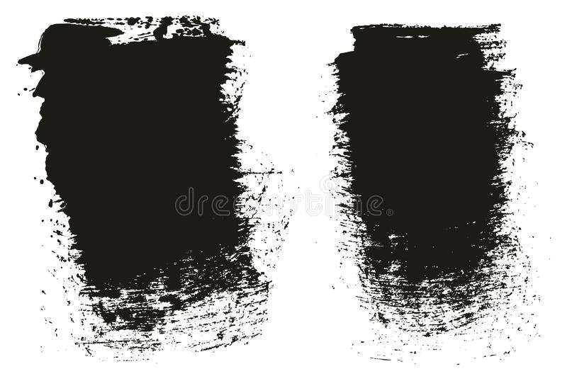 Paint Brush Wide Background High Detail Abstract Vector Background Set 81. This image is a vector illustration and can be scaled to any size without loss of stock illustration