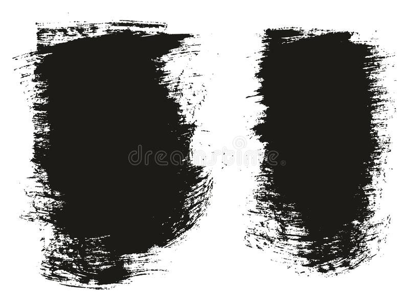 Paint Brush Wide Background High Detail Abstract Vector Background Set 73. This image is a vector illustration and can be scaled to any size without loss of stock illustration