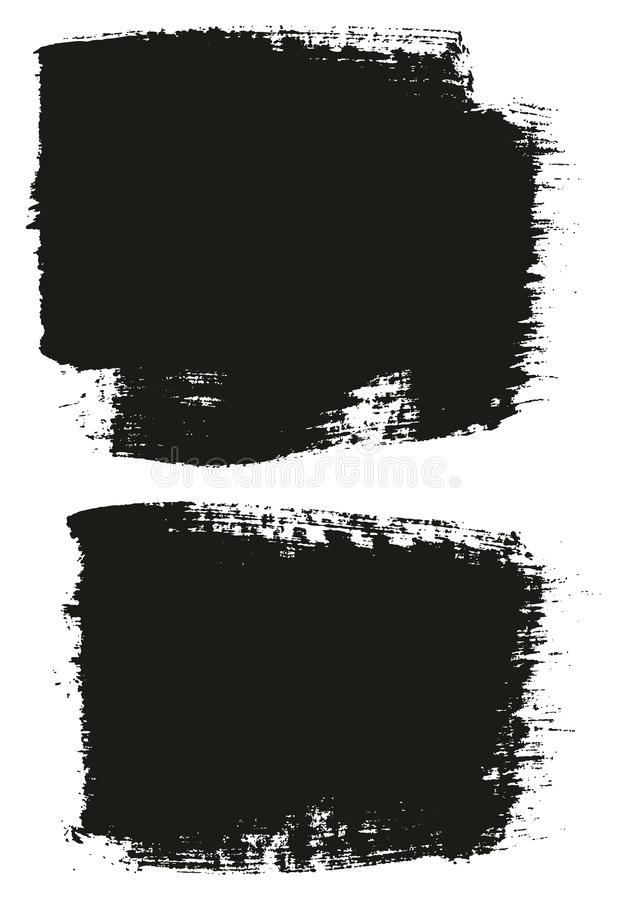 Paint Brush Wide Background High Detail Abstract Vector Background Set 28. This image is a vector illustration and can be scaled to any size without loss of vector illustration