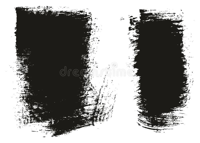 Paint Brush Wide Background High Detail Abstract Vector Background Set 75. This image is a vector illustration and can be scaled to any size without loss of stock illustration