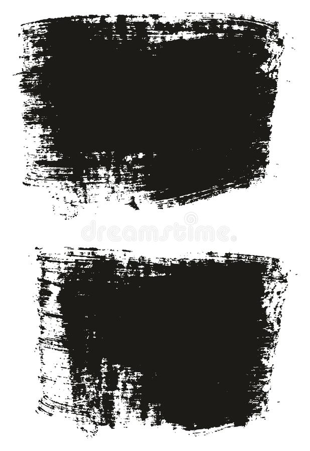 Paint Brush Wide Background High Detail Abstract Vector Background Set 33. This image is a vector illustration and can be scaled to any size without loss of royalty free illustration