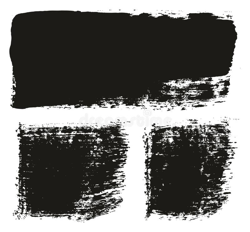 Paint Brush Wide Lines High Detail Abstract Vector Background Set 128. This image is a vector illustration and can be scaled to any size without loss of stock illustration